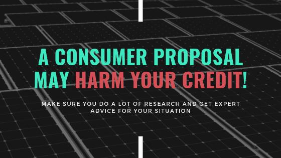Consumer Proposal Can Damage Credit